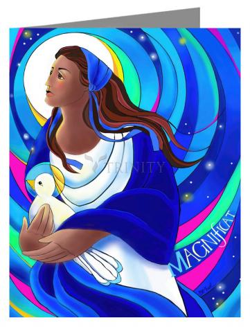 Custom Text Note Card - Magnificat by M. McGrath