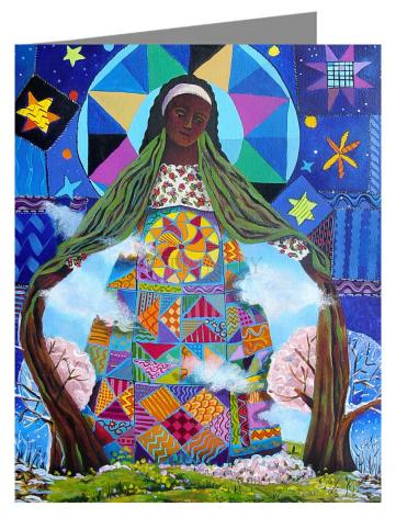 Custom Text Note Card - Mary, Our Lady of Refuge by M. McGrath