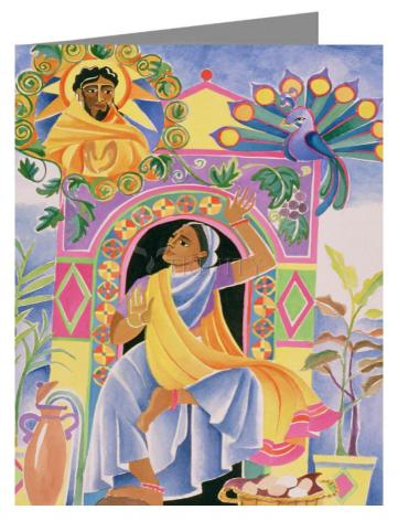 Custom Text Note Card - St. Mary Magdalene at the Tomb by M. McGrath