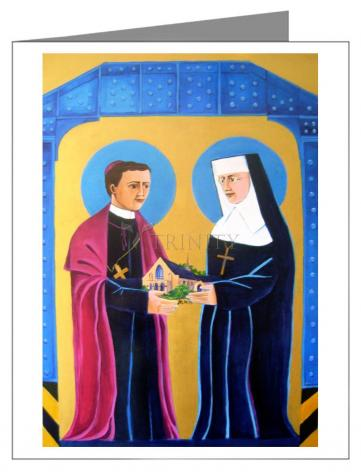 Custom Text Note Card - Sts. John Neumann and Katharine Drexel by M. McGrath