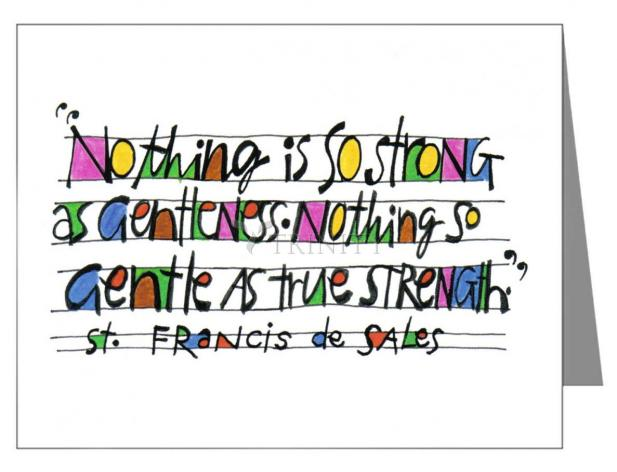 Custom Text Note Card - Nothing Is So Strong As Gentleness by M. McGrath