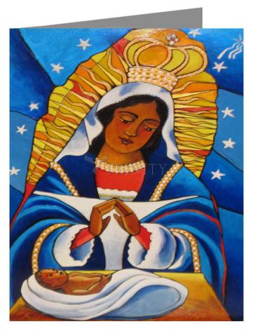 Custom Text Note Card - Our Lady of Altagracia by M. McGrath