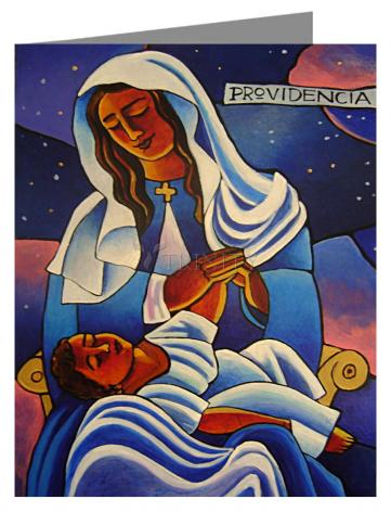 Custom Text Note Card - Our Lady of the Divine Providence by M. McGrath