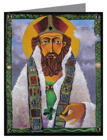 Custom Text Note Card - St. Patrick by M. McGrath