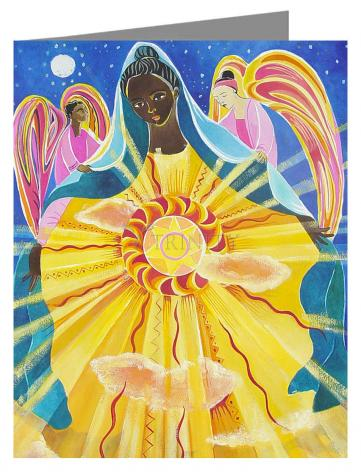 Custom Text Note Card - Mary, Queen of the Universe by M. McGrath