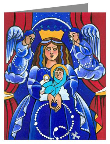 Custom Text Note Card - Mary, Queen of Heaven by M. McGrath