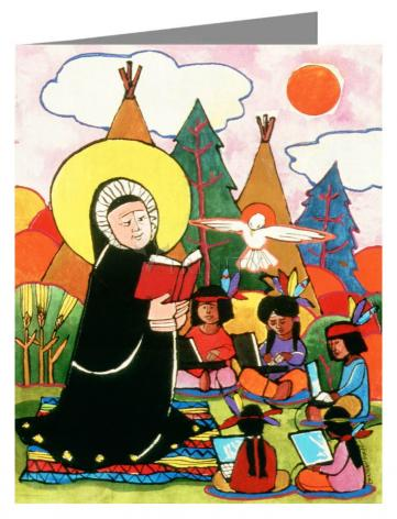 Custom Text Note Card - St. Rose Duchesne by M. McGrath