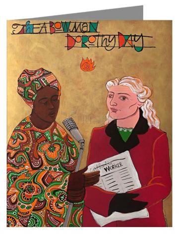 Custom Text Note Card - Sr. Thea Bowman and Dorothy Day by M. McGrath