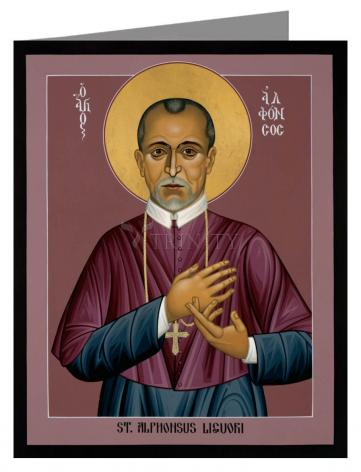 Custom Text Note Card - St. Alphonsus Liguori by R. Lentz