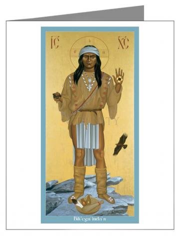 Custom Text Note Card - Apache Christ by R. Lentz