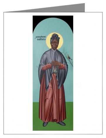 Custom Text Note Card - St. Josephine Bakhita by R. Lentz