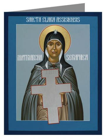 Custom Text Note Card - St. Clare of Assisi: Seraphic Matriarch by R. Lentz
