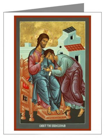 Custom Text Note Card - Christ the Bridegroom by R. Lentz