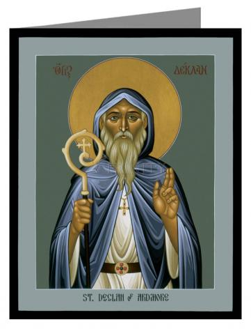 Custom Text Note Card - St. Declan of Ardmore by R. Lentz