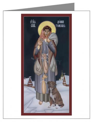 Custom Text Note Card - St. Domna of Tomsk by R. Lentz
