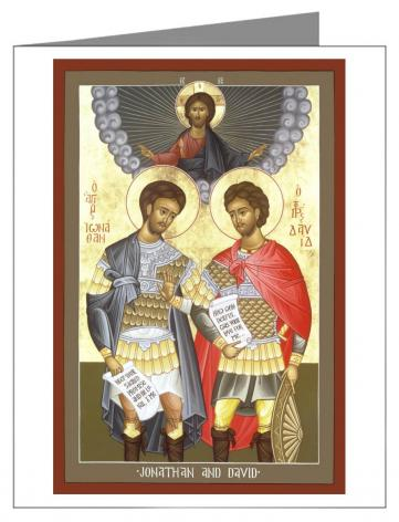 Custom Text Note Card - Jonathan and David by R. Lentz