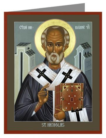 Custom Text Note Card - St. Nicholas of Myra by R. Lentz