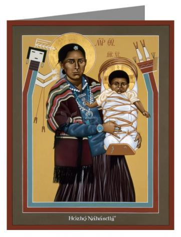 Custom Text Note Card - Navaho Madonna by R. Lentz