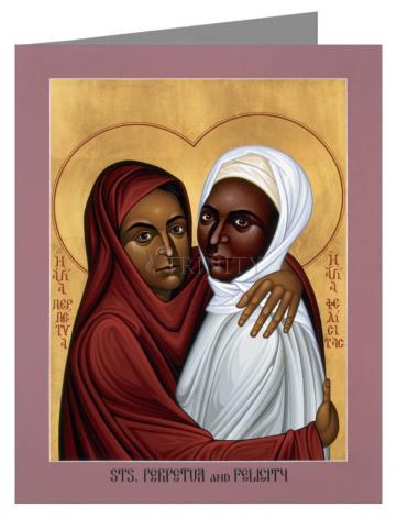 Custom Text Note Card - Sts. Perpetua and Felicity by R. Lentz