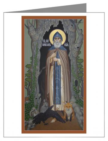 Custom Text Note Card - St. Paul of Obnora by R. Lentz