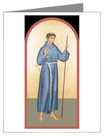 Custom Text Note Card - St. Philip of Jesus by R. Lentz