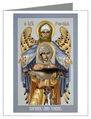 Custom Text Note Card - St. Raphael and Tobias by R. Lentz