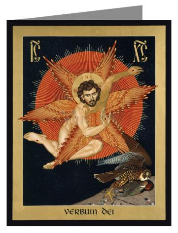 Custom Text Note Card - Seraphic Christ by R. Lentz