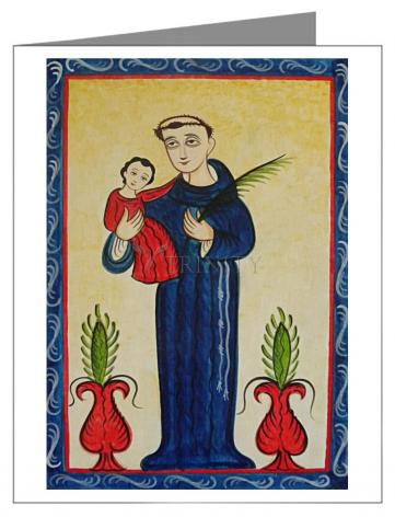 Note Card - St. Anthony of Padua by A. Olivas