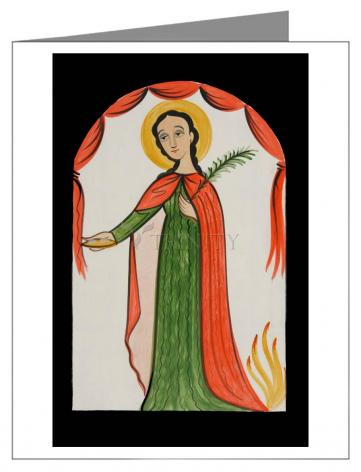 Note Card - St. Agatha by A. Olivas