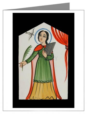 Note Card - St. Cecilia by A. Olivas