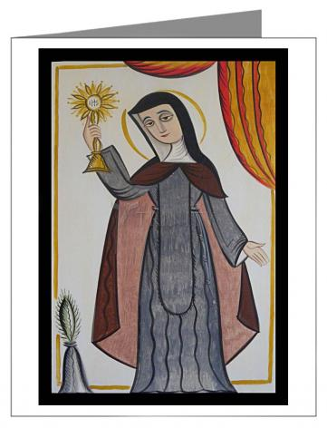 Note Card - St. Clare of Assisi by A. Olivas