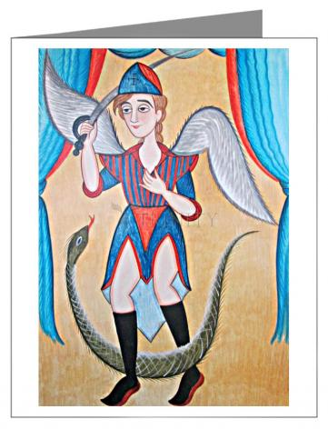 Note Card - St. Michael Archangel by A. Olivas