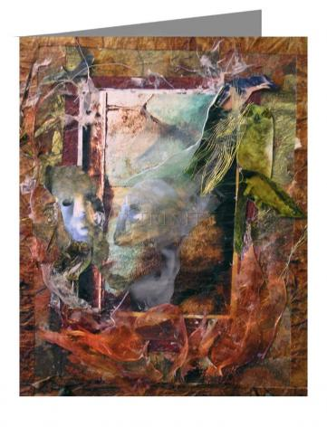 Note Card - Faces Amidst Tattered Shroud by B. Gilroy