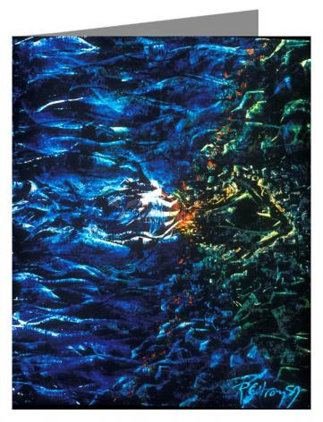 Note Card - Fish Fossil by B. Gilroy