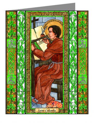 Note Card - St. Columba by B. Nippert