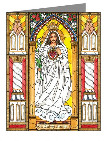 Note Card - Our Lady of America by B. Nippert
