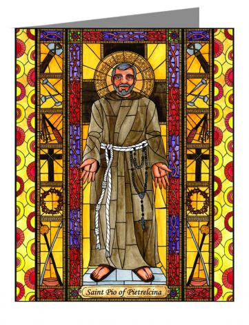 Note Card - St. Padre Pio by B. Nippert