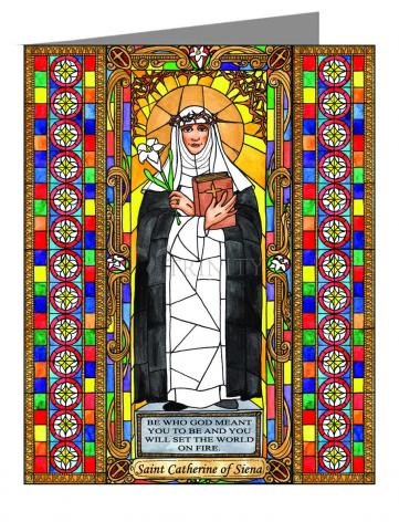 Note Card - St. Catherine of Siena by B. Nippert