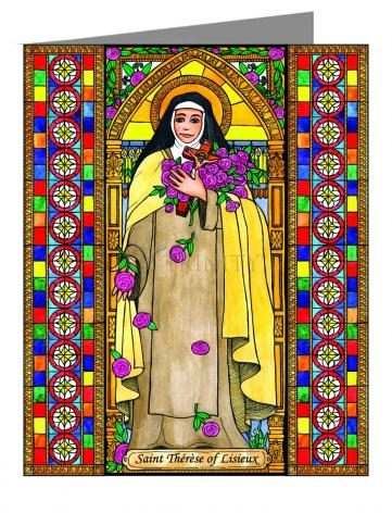Note Card - St. Thérèse of Lisieux by B. Nippert