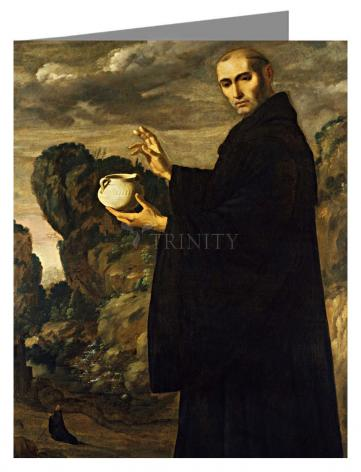 Note Card - St. Benedict of Nursia by Museum Art