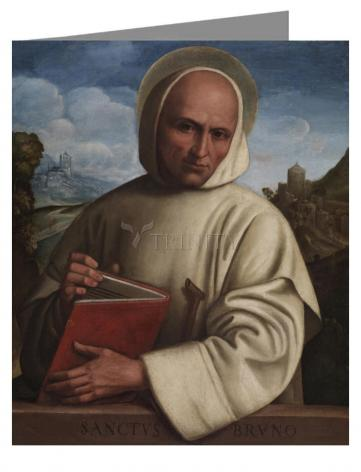Note Card - St. Bruno of Cologne by Museum Art