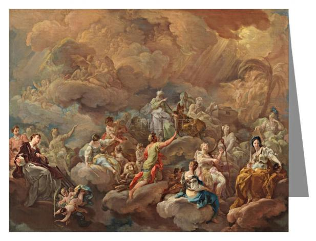 Note Card - Glory of Saints by Museum Art