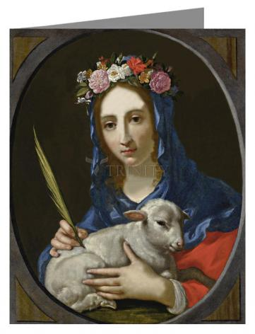 Note Card - St. Agnes by Museum Art