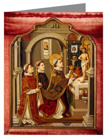 Note Card - Mass of St. Gregory the Great by Museum Art
