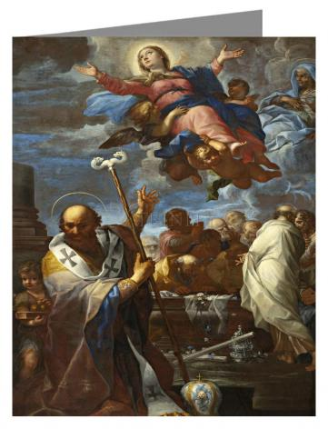 Note Card - Assumption of Mary with Sts. Anne and Nicholas of Myra by Museum Art