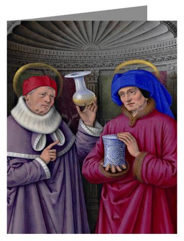 Note Card - Sts. Cosmas and Damian by Museum Art