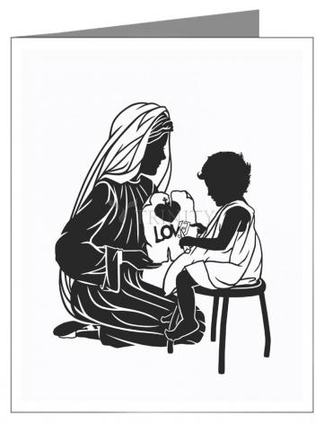 Note Card - Our Lady Teacher by D. Paulos