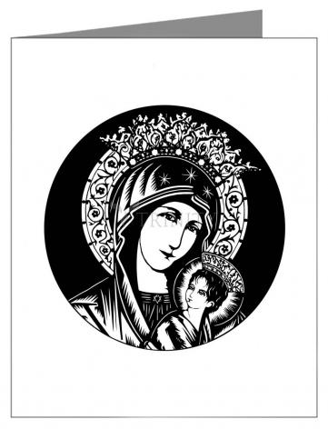 Note Card - Our Lady of Perpetual Help - Detail   by D. Paulos