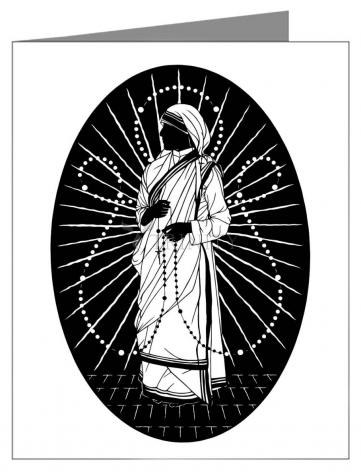 Note Card - St. Teresa of Calcutta - Love to Pray by D. Paulos