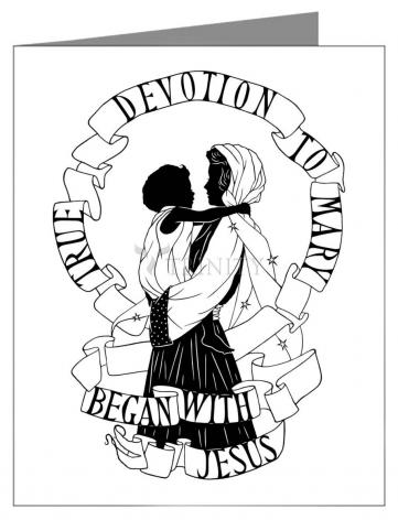Note Card - True Devotion to Mary Began With Jesus by D. Paulos